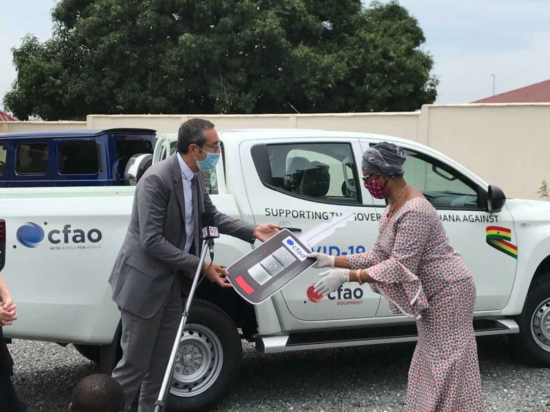 CFAO Group donated 2 Mitsubishi pick-up trucks to Ghana COVID-19 Fund